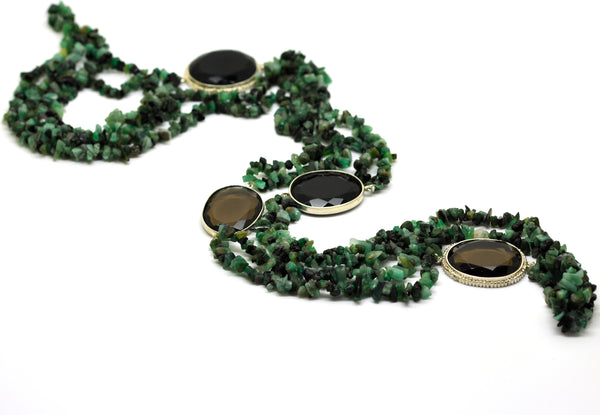 ON SALE Emerald necklace