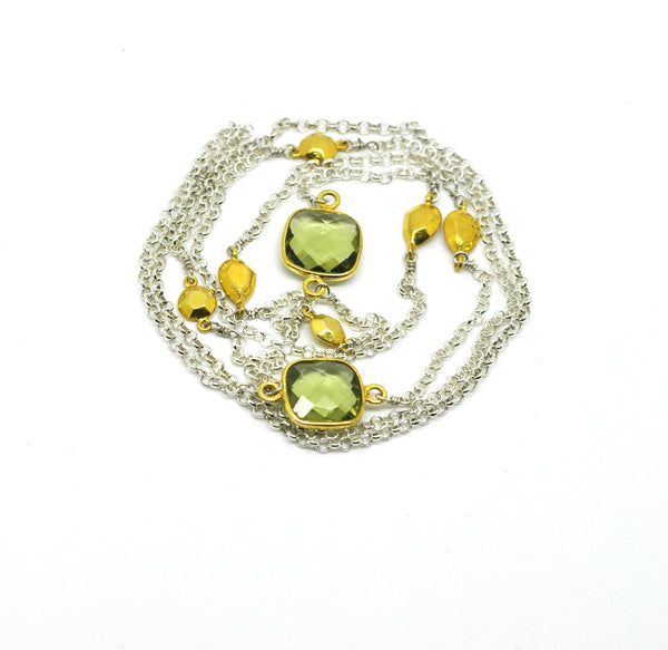 ON SALE Green Amethyst necklace