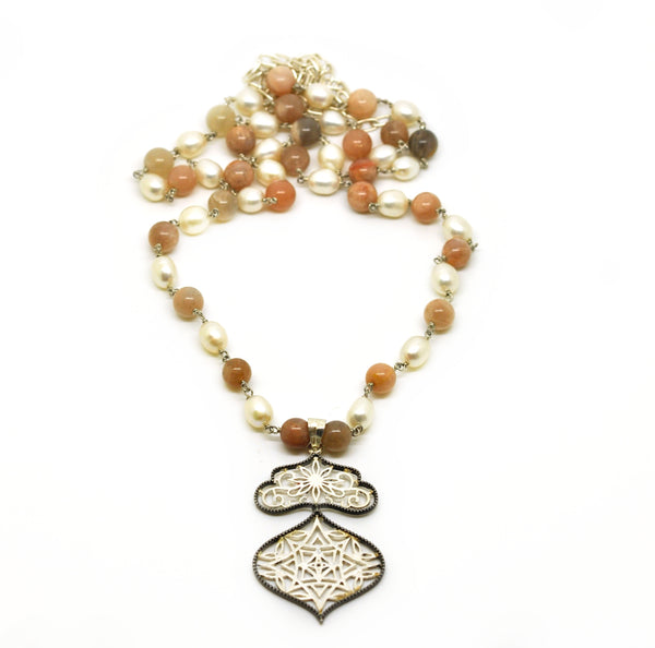 ON SALE - Moonstone and pearl 2