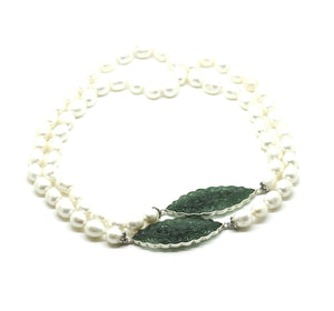 ON SALE Aventurine and Pearl