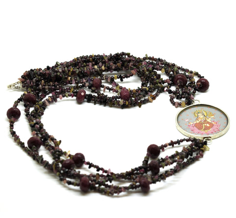 "ON SALE Tourmaline and Ruby ""Mata"" Necklace (Clearance)"