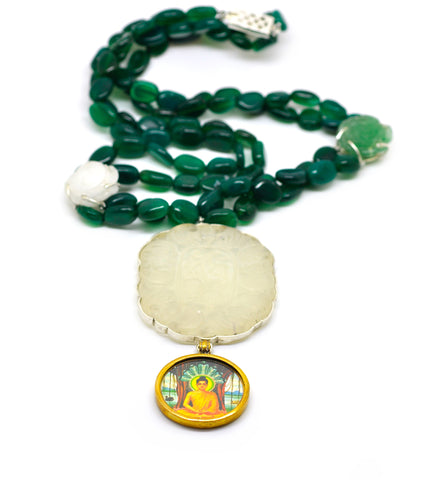SOLD - ON SALE Jade Buddha necklace (Clearance)