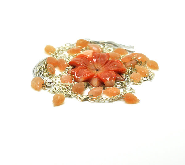 ON SALE- Agate flower necklace