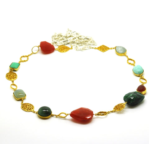 SOLD - ON SALE Multi gemstone necklace 2