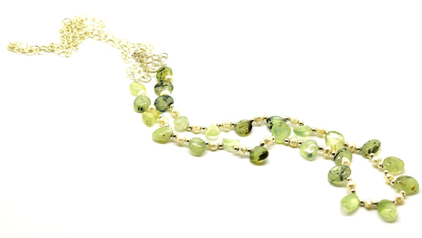ON SALE  Prehnite necklace