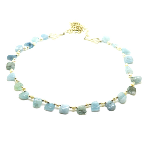 ON SALE Aquamarine necklace
