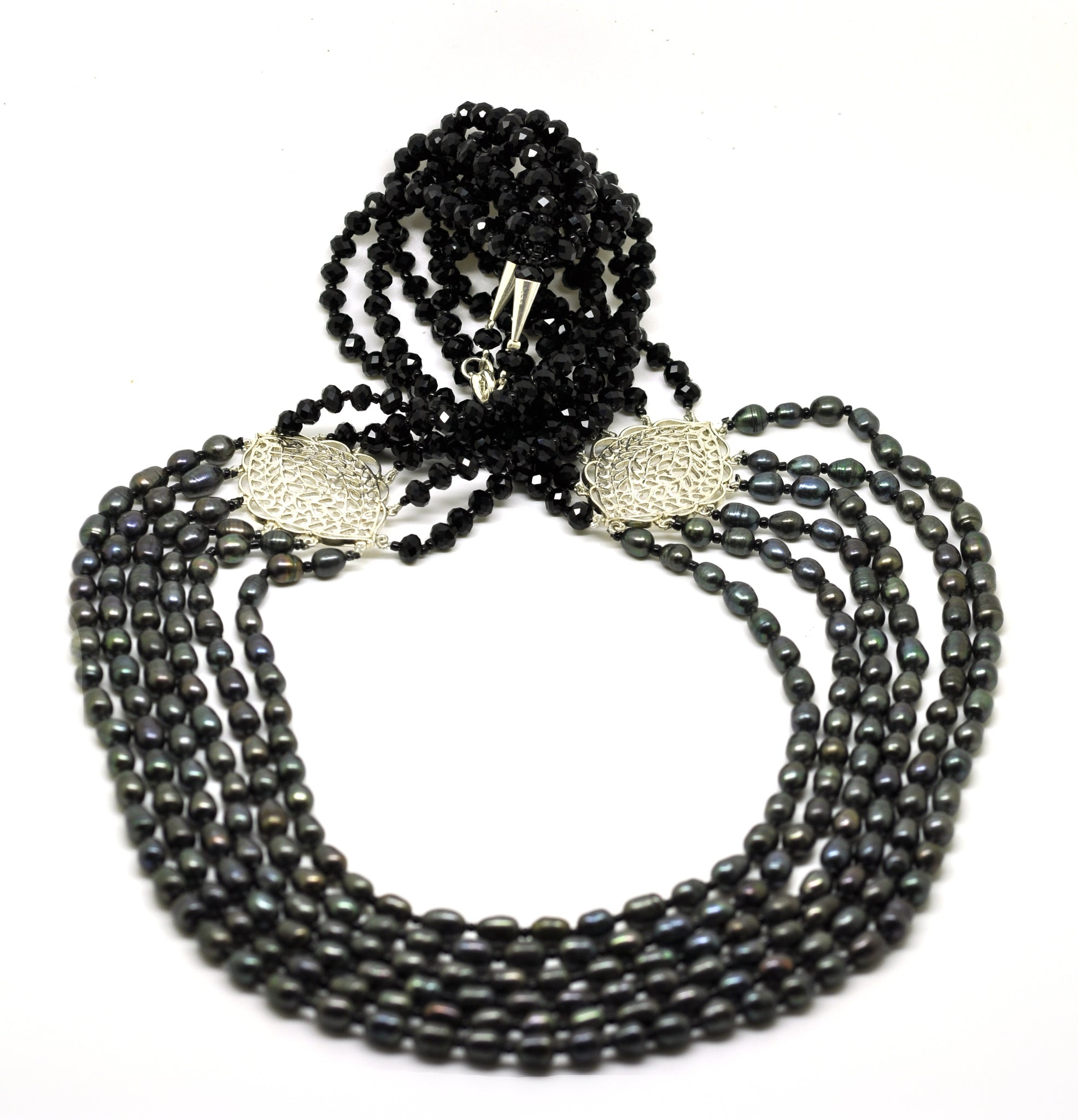 SOLD  - NEW Pearl Filigree necklace 2