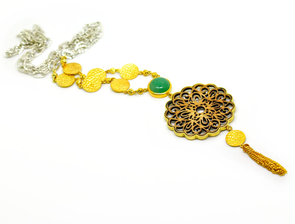 ON SALE- wood filigree necklace 4 (Clearance)