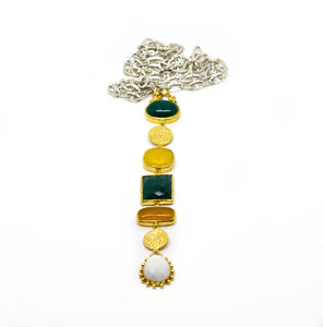 ON SALE Multi gemstone long pendant 1 (Clearance)