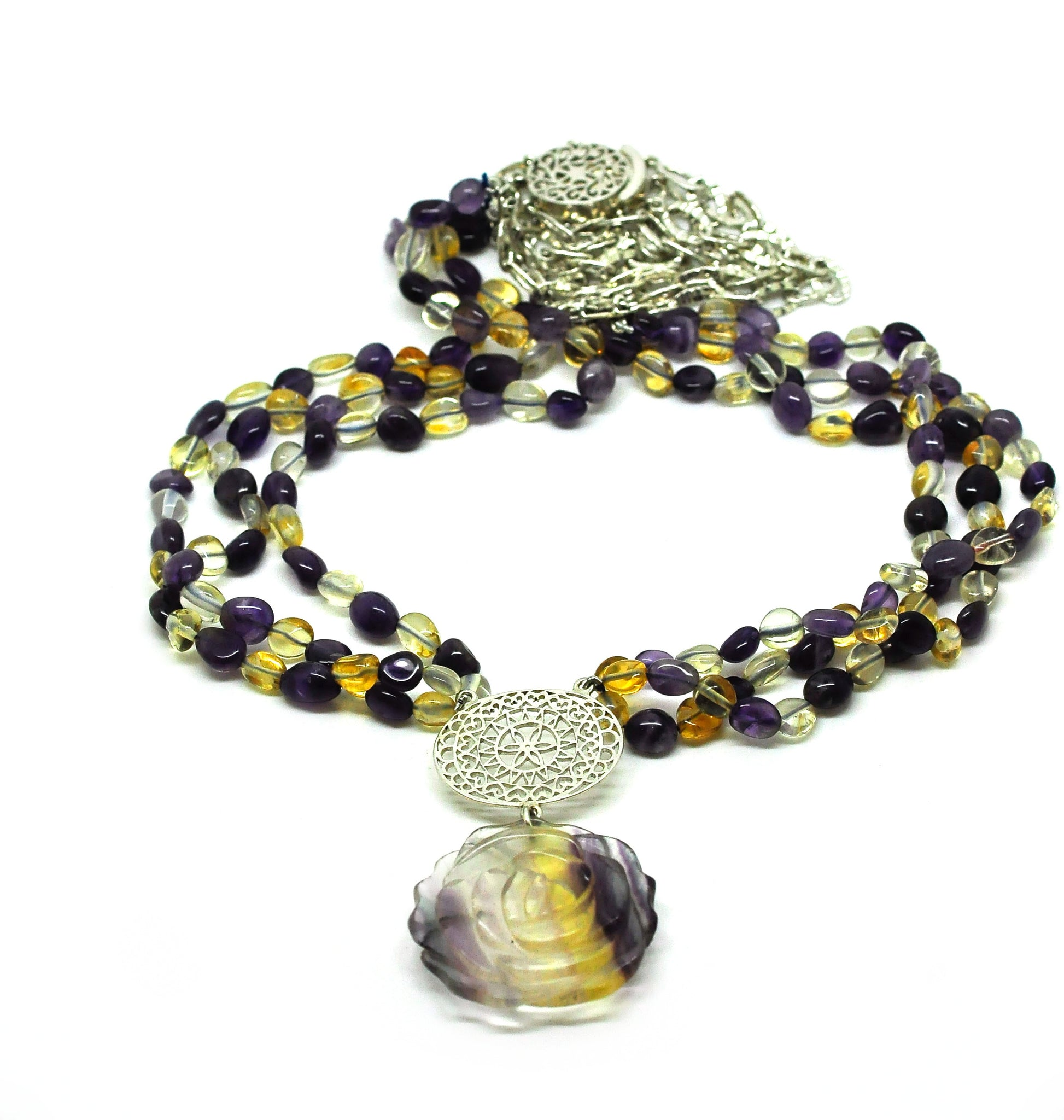 NEW - Citrine and Amethyst Necklace