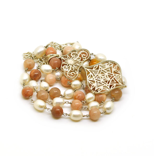 ON SALE - Moonstone and Pearl 1