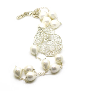SOLD - NEW - Mother of Pearl Necklace 1