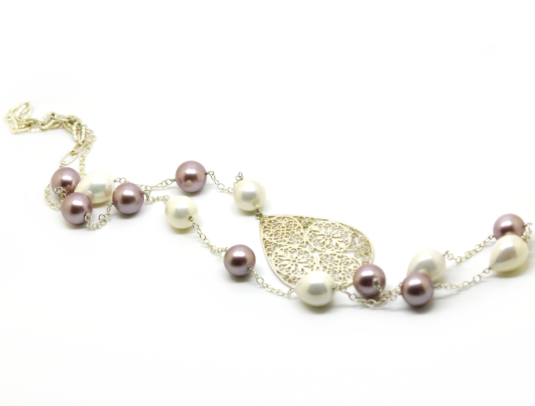 SOLD - NEW - Mother of Pearl necklace 2