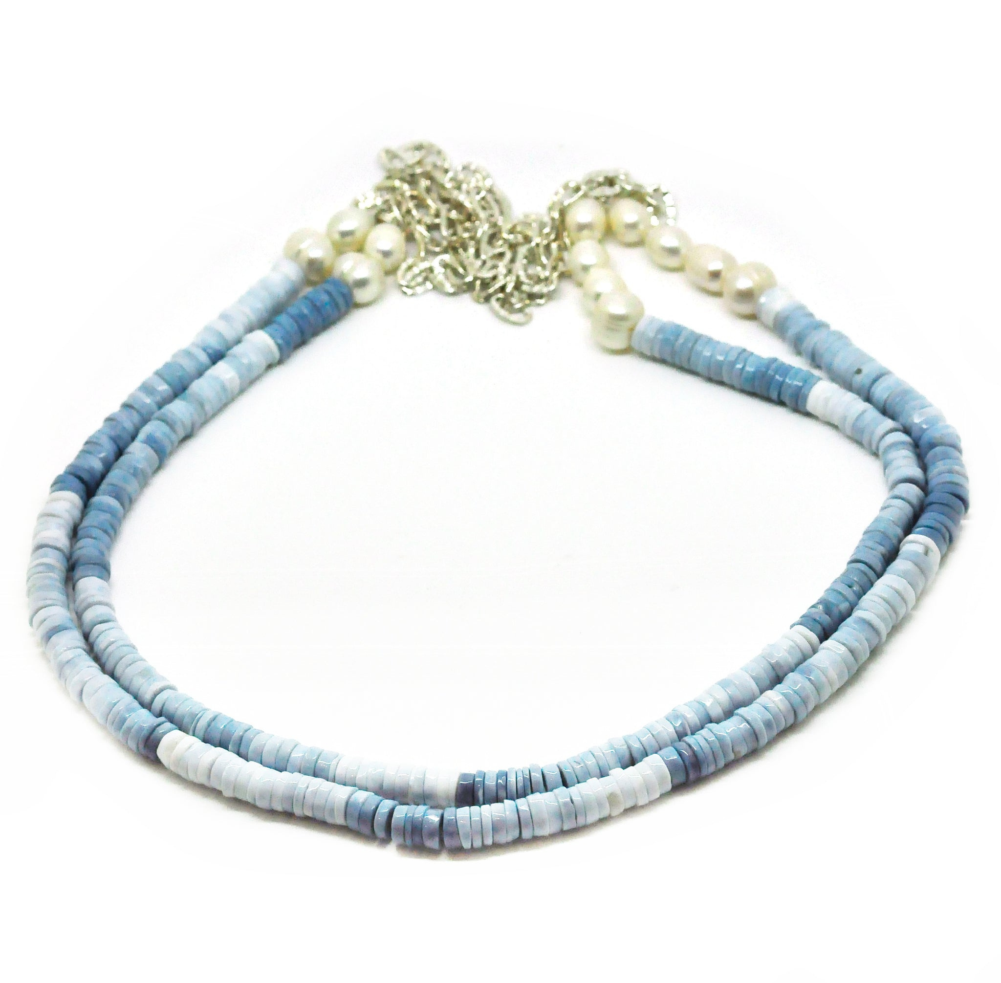 ON SALE Blue Opal necklace