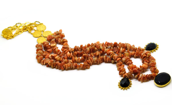 ON SALE Sunstone necklace