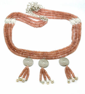 ON SALE Moonstone tribal necklace