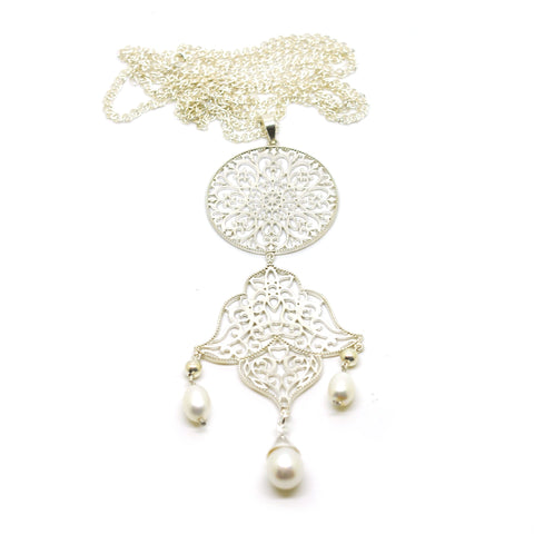 NEW Long filigree necklace
