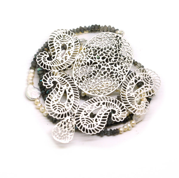 SOLD - NEW Large filigree necklace 3