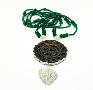 NEW Carved Jade necklace