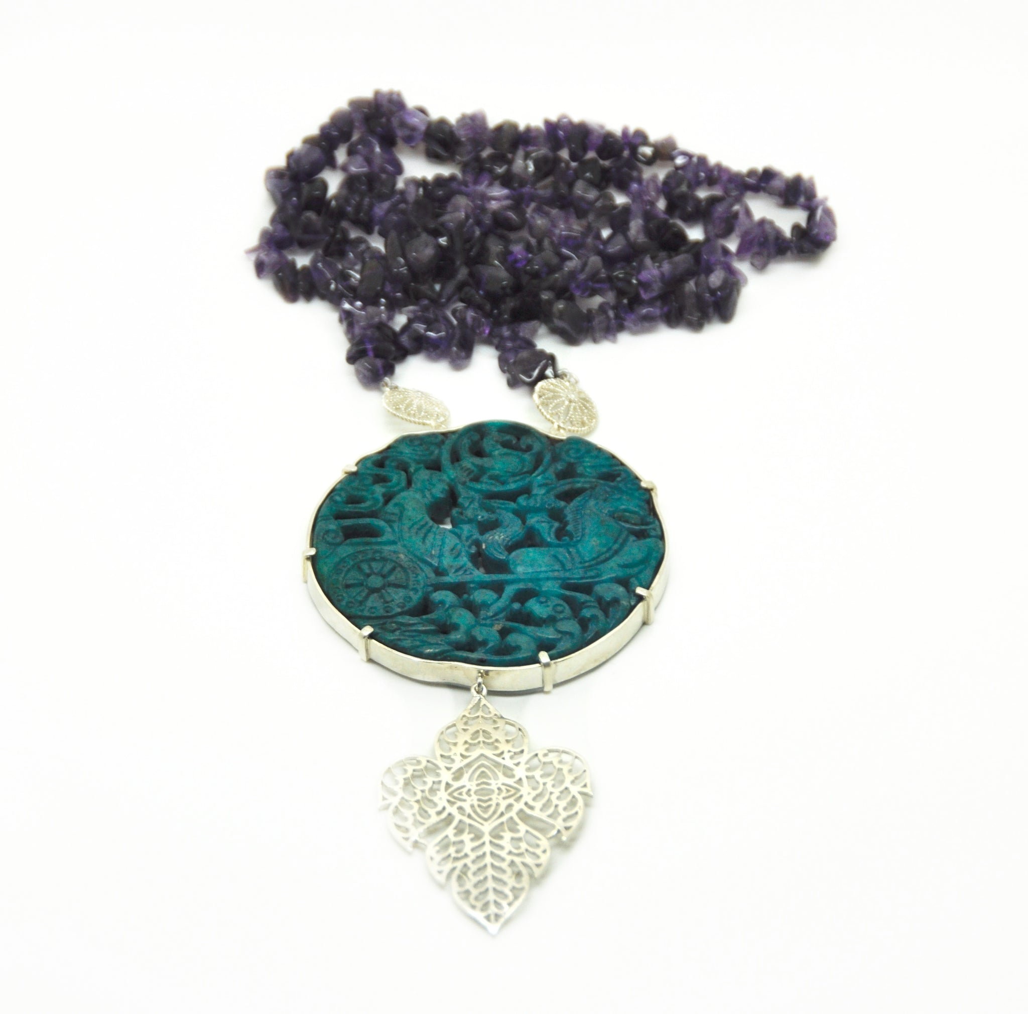 SOLD -  Carved Jade necklace 2