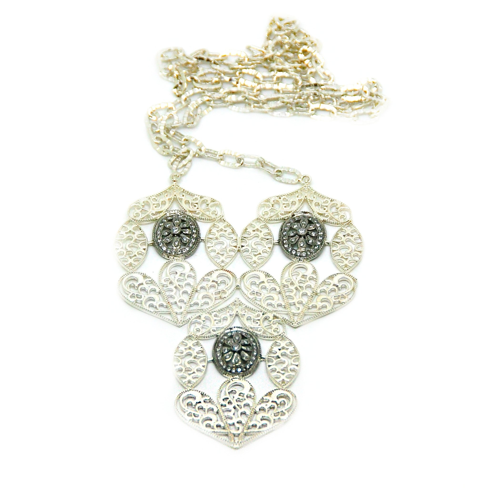 ON SALE large filigree necklace 2