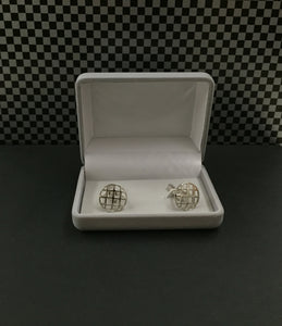 ON SALE - Round Weave Cuff link