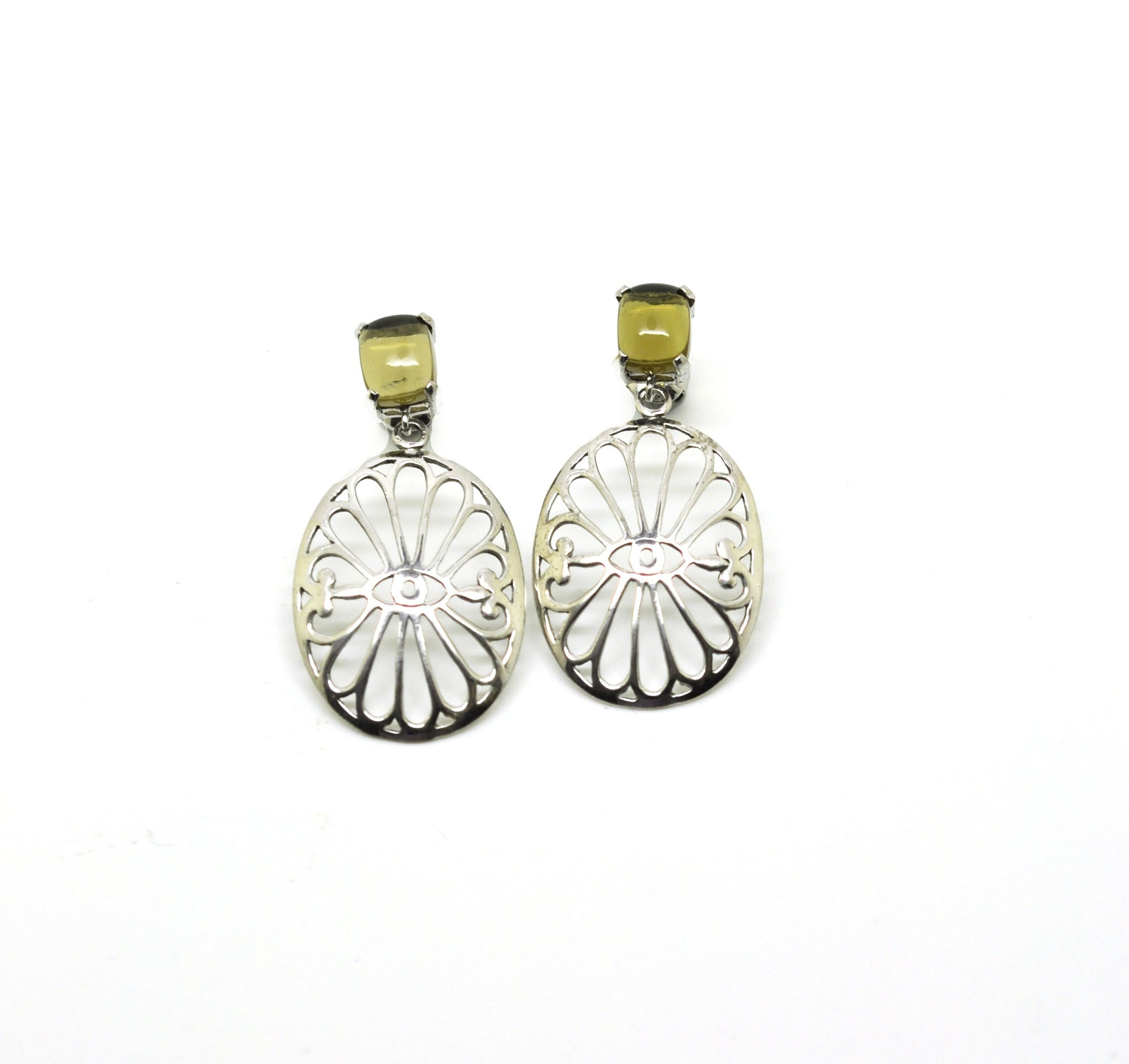 ON SALE Olive quartz earring