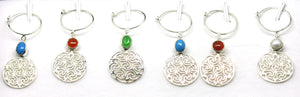 Sterling Silver Wine Glass Charm Set 6 -Round SOLD