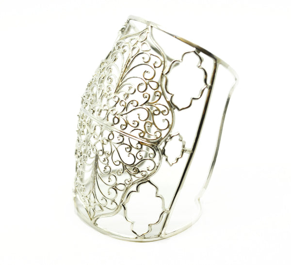 ON SALE Wide Filigree Cuff (clearance)