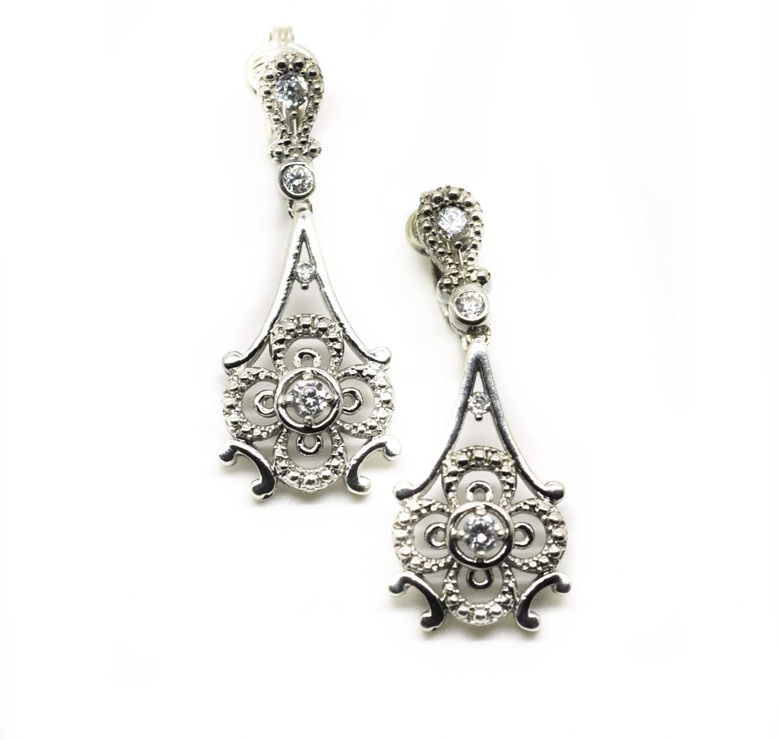 ON SALE CLIP ON Zirconia earring