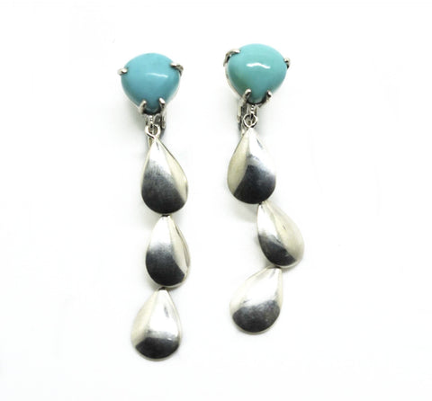 ON SALE CLIP ON Turquoise earring