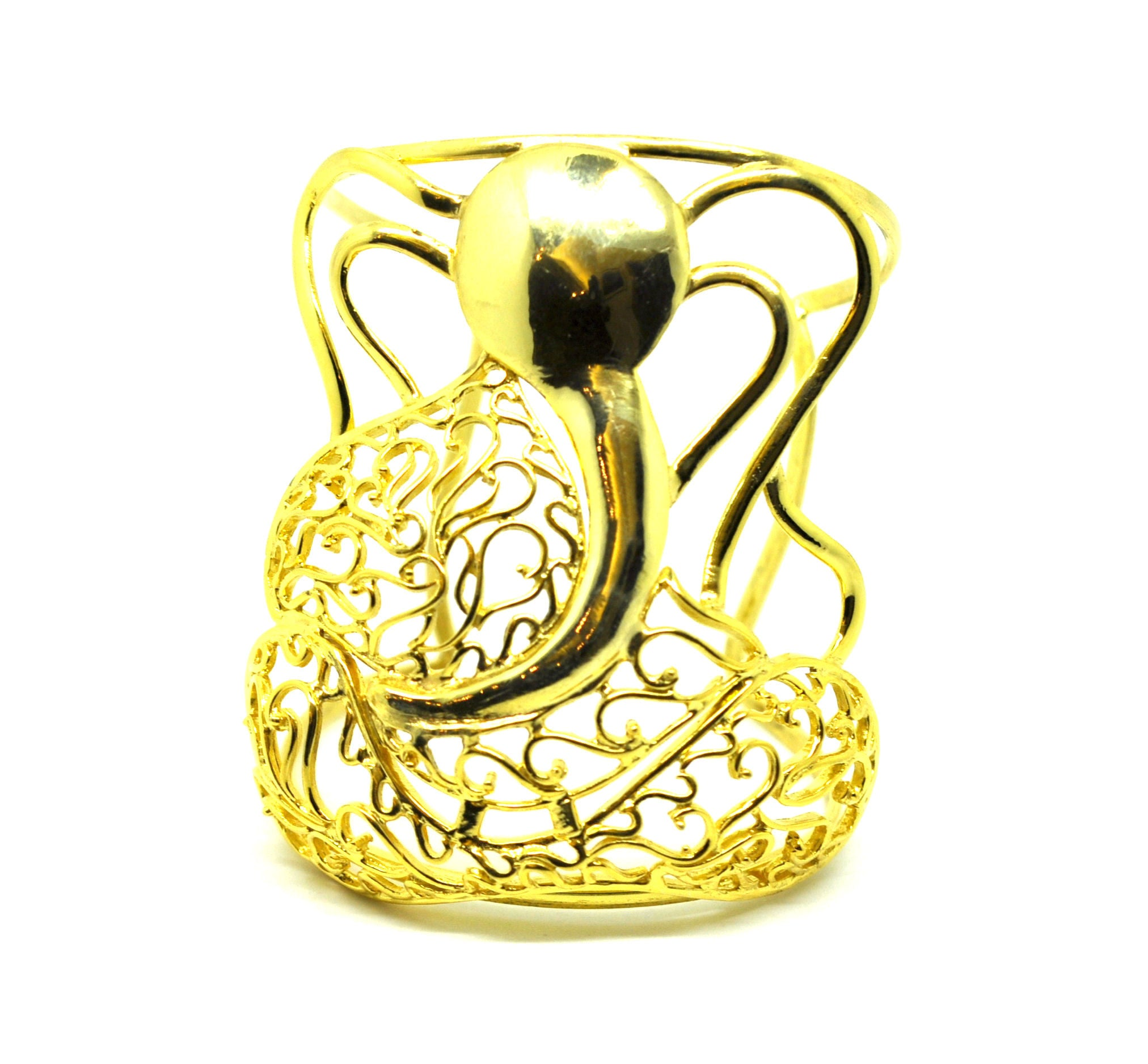 On Sale-Ganesha Cuff - Gold plated