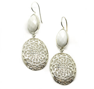 ON SALE Filigree earring - White