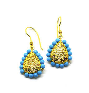 ON SALE Turkish inspired turquoise filigree