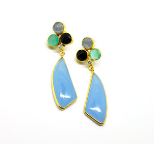 ON SALE - Multi gemstone earring 8
