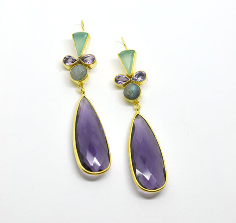 ON SALE - Mixed gemstone earring 10