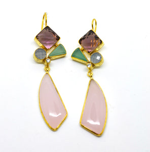 ON SALE - Mixed gemstone earring 9
