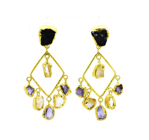 SOLD - ON SALE Gemstone earring 5 (clearance)