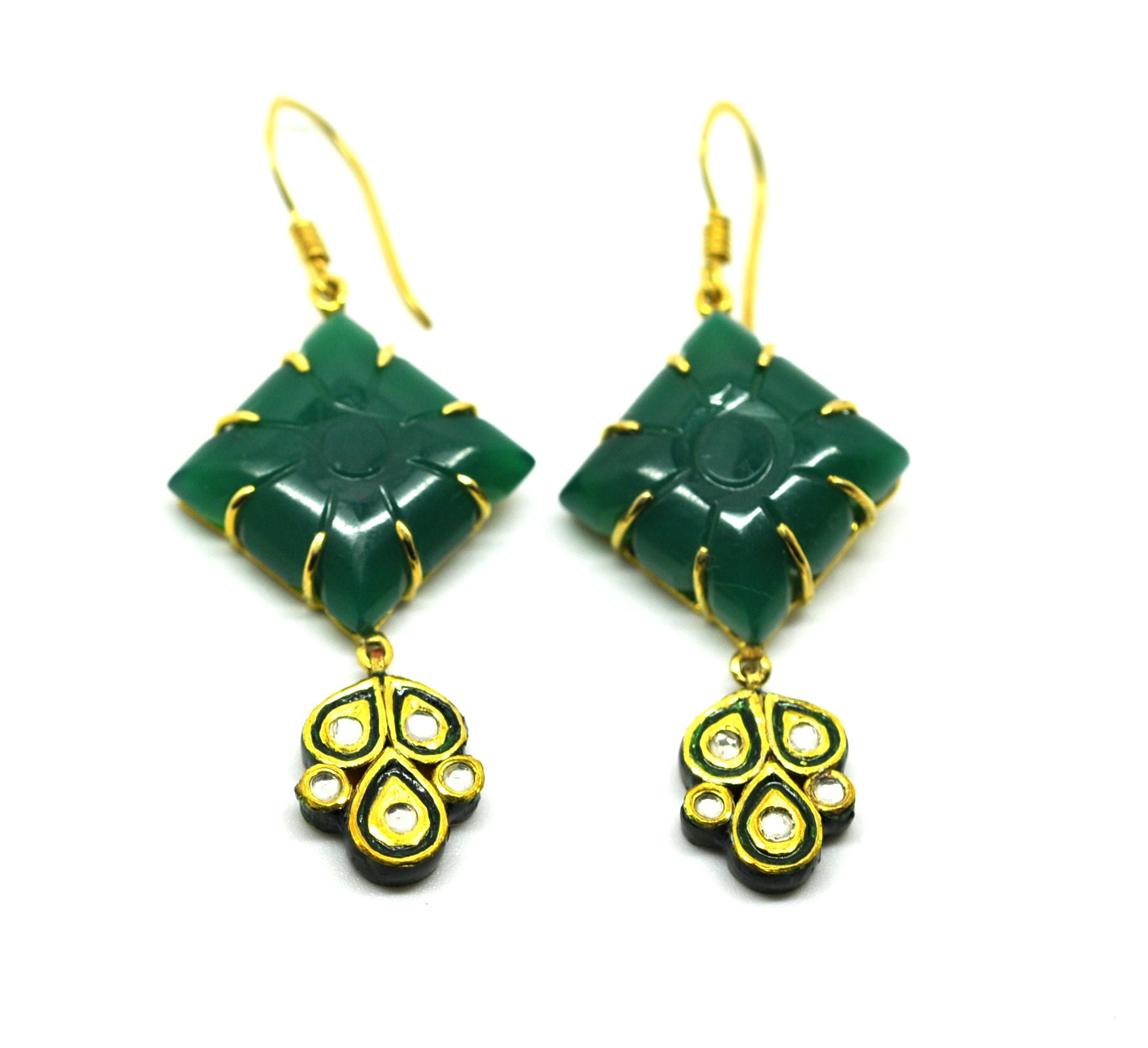 ON SALE - Kundan and Green Onyx