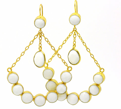 20 in 2020 Chandelier Earring- White Agate