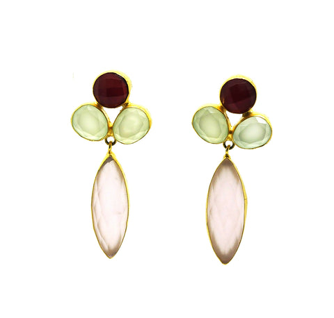 FOR RAYAN -  Mixed gemstone earring