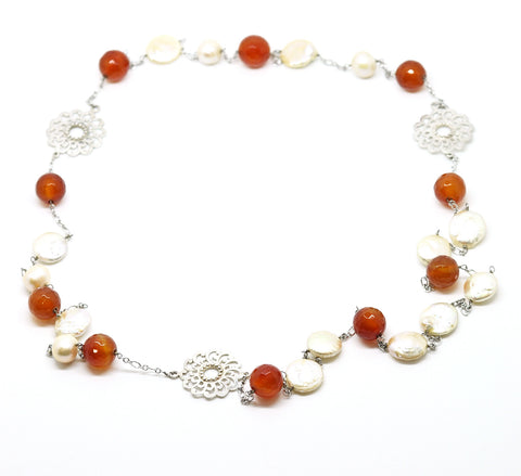 ON SALE Carnelian necklace (clearance)