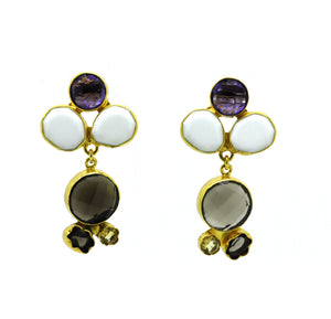 SOLD - ON SALE Multi gemstone earring 7 - on hold