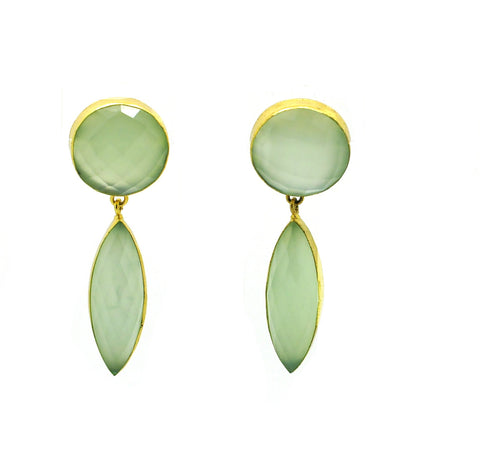 ON SALE Large Chalcedony earring (clearance)
