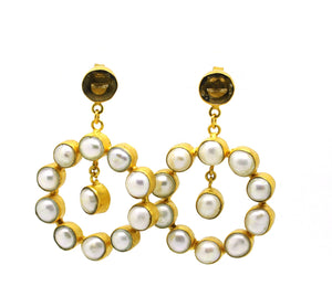 ON SALE Pearl Hoops