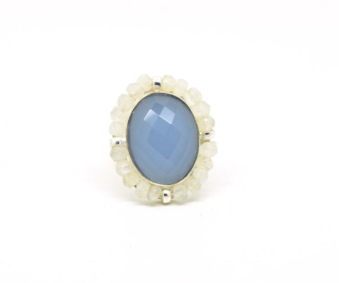 ON SALE  Blue chalcedony Turkish design (clearance)