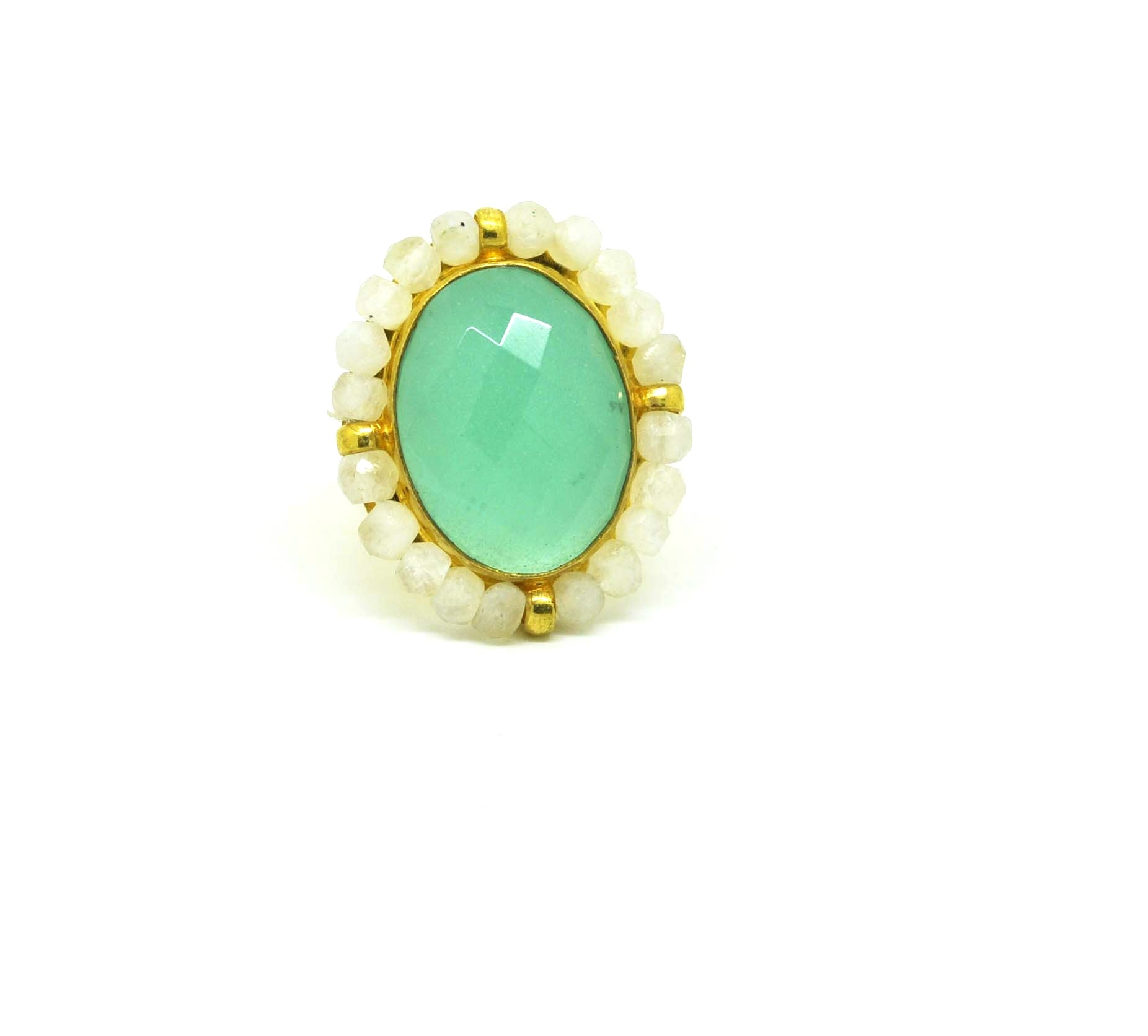 ON SALE Green chalcedony Turkish design (clearance)