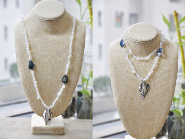 SOLD -ON SALE Opal Druzy Necklace (clearance price)