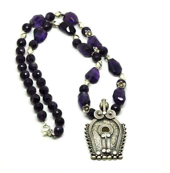 SOLD - NEW Tribal Amethyst Necklace