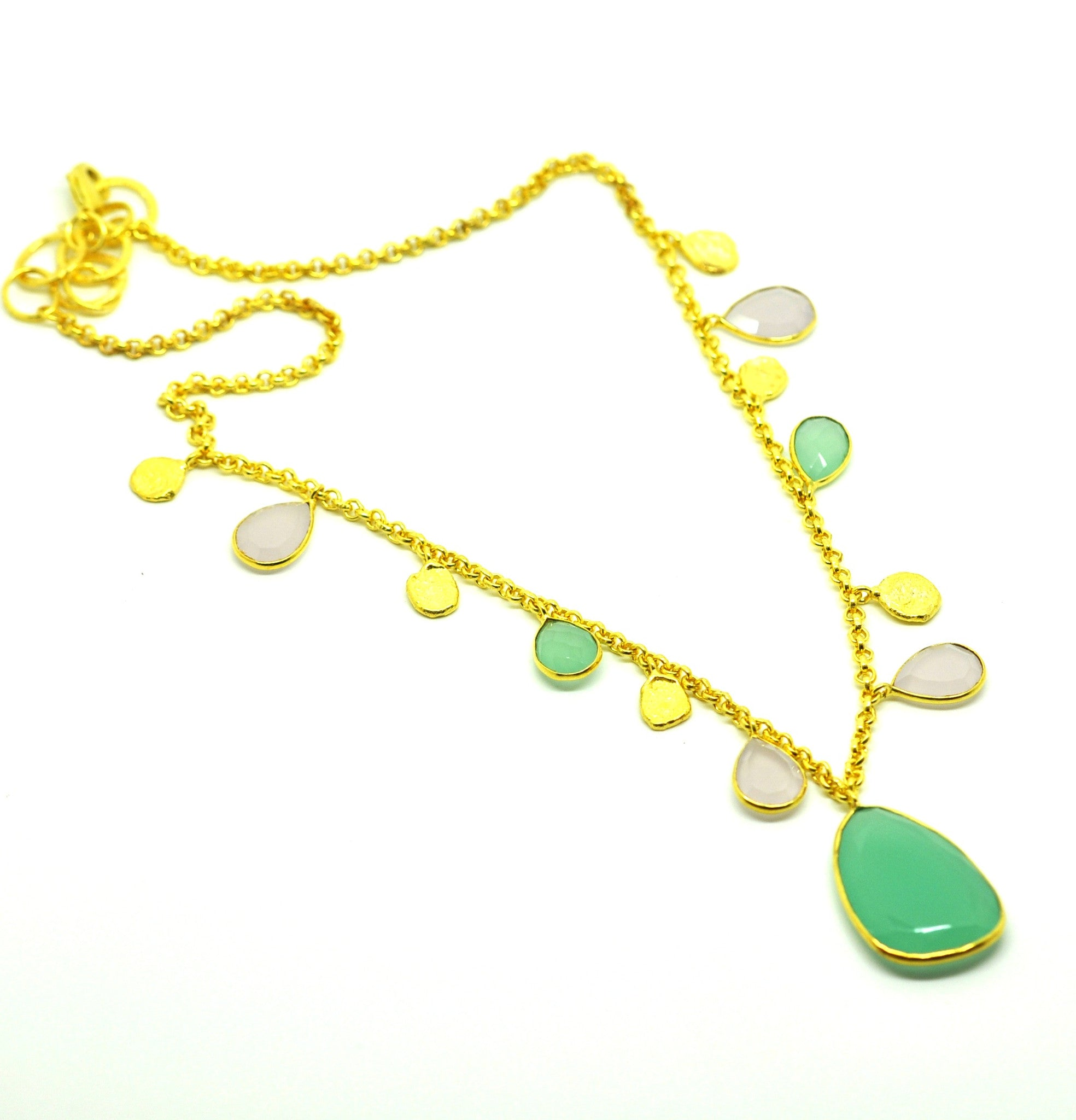 SOLD - ON SALE Chalcedony necklace (CLEARANCE)